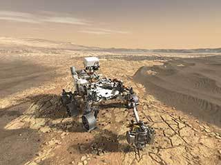 Mars 2020 Rover Collecting Samples