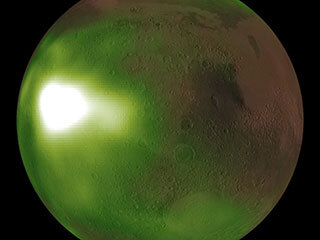 read the article 'NASA's MAVEN Observes Martian Night Sky Pulsing in Ultraviolet Light'