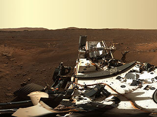 read the article 'NASA's Perseverance Rover Gives High-Definition Panoramic View of Landing Site'
