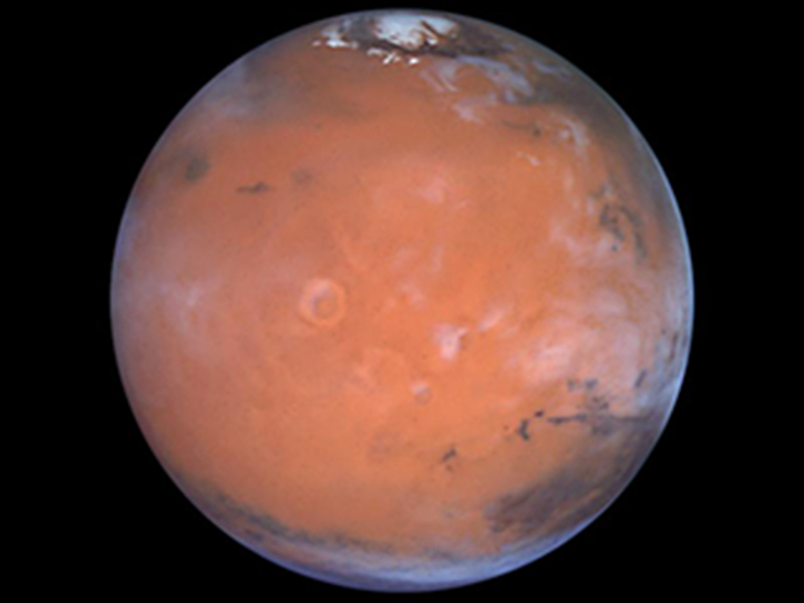 A Closer Hubble Encounter With Mars - Tharsis