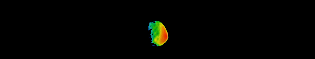 This image combines two products from the first pointing at the Martian moon Phobos by the THEMIS camera on NASA's Mars Odyssey orbiter, on Sept. 29, 2017. Surface-temperature information from observation in thermal-infrared wavelengths is overlaid on a more detailed image from a visible-light observation.