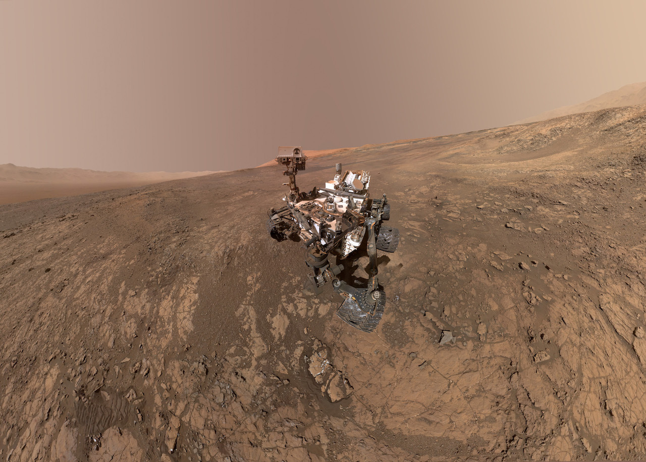 rover on surface of mars