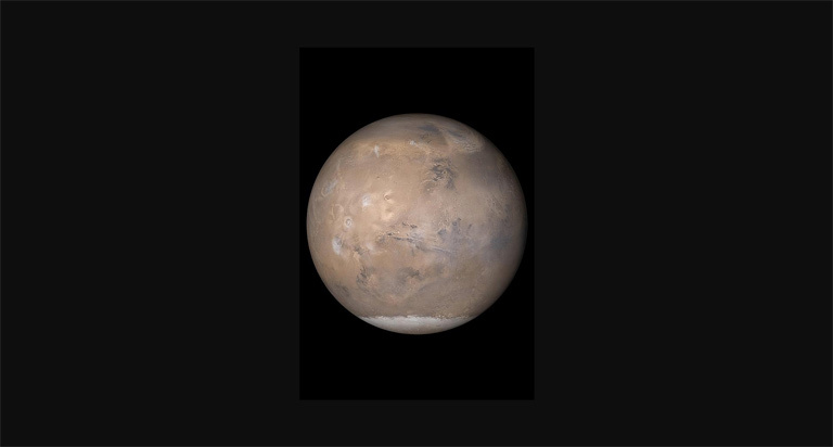 A new paper suggests that liquid water may be sitting under a layer of ice at Mars' south pole.