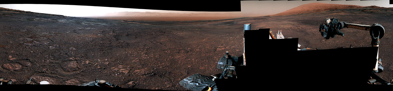 Curiosity's 360 panorama of 'Rock Hall': This panorama from the Mast Camera (Mastcam) on NASA's Curiosity Mars rover was taken on Dec. 19 (Sol 2265). The rover's last drill location on Vera Rubin Ridge is visible, as well as the clay region it will spend the next year exploring. Image Credit: NASA/JPL-Caltech/MSSS. Full image and caption.
