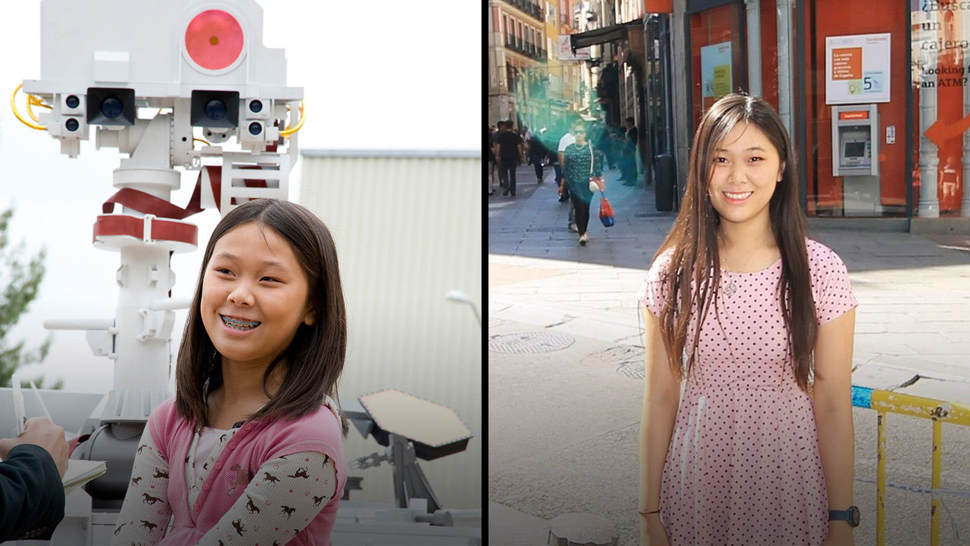 Image of Clara Ma, then and now.