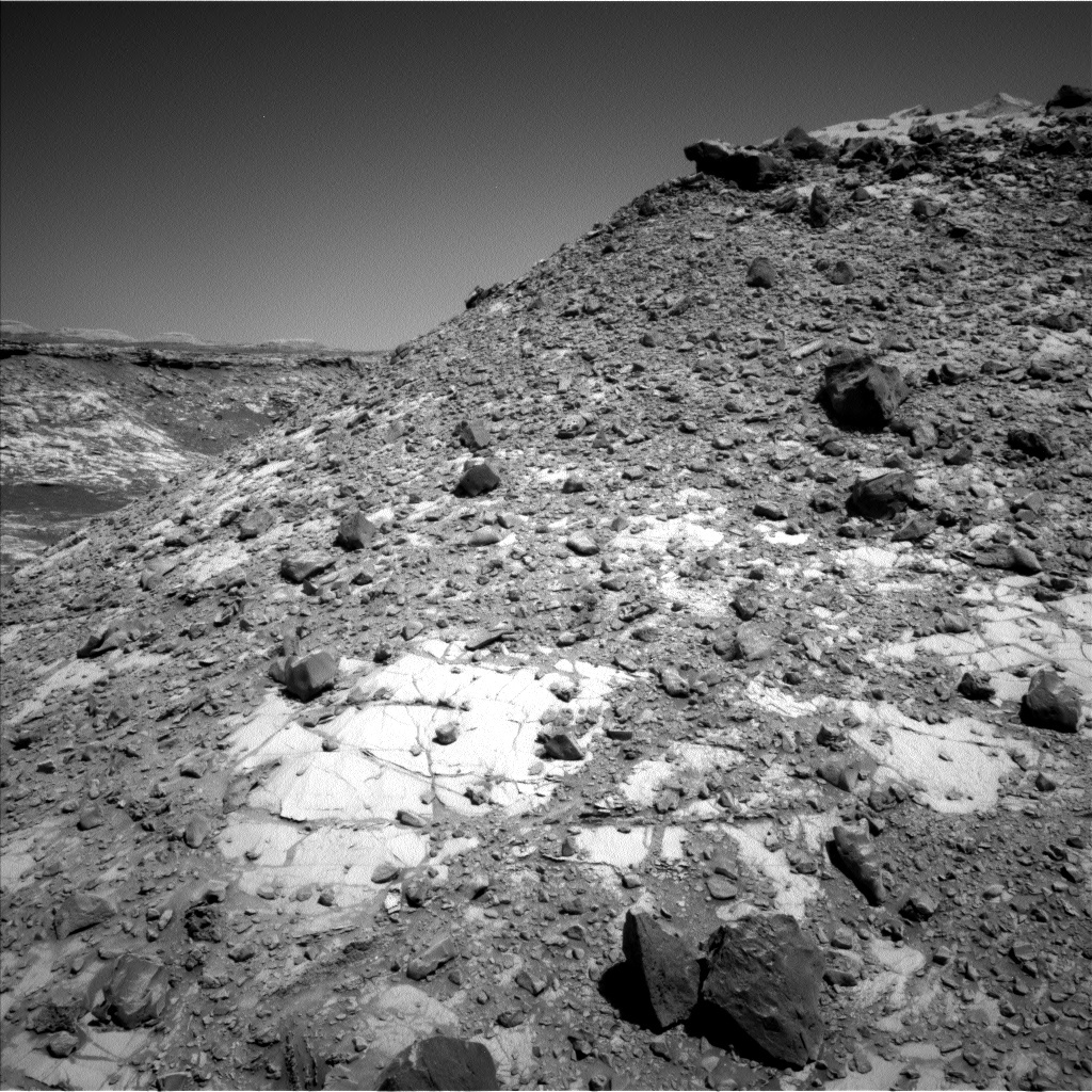 Curiosity's workspace at the top of Western Butte for the next few sols.