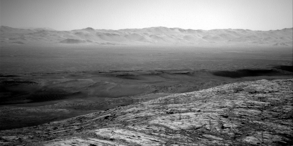 Dust devil survey image looking across the crater trench toward the northern rim on sol 2632.