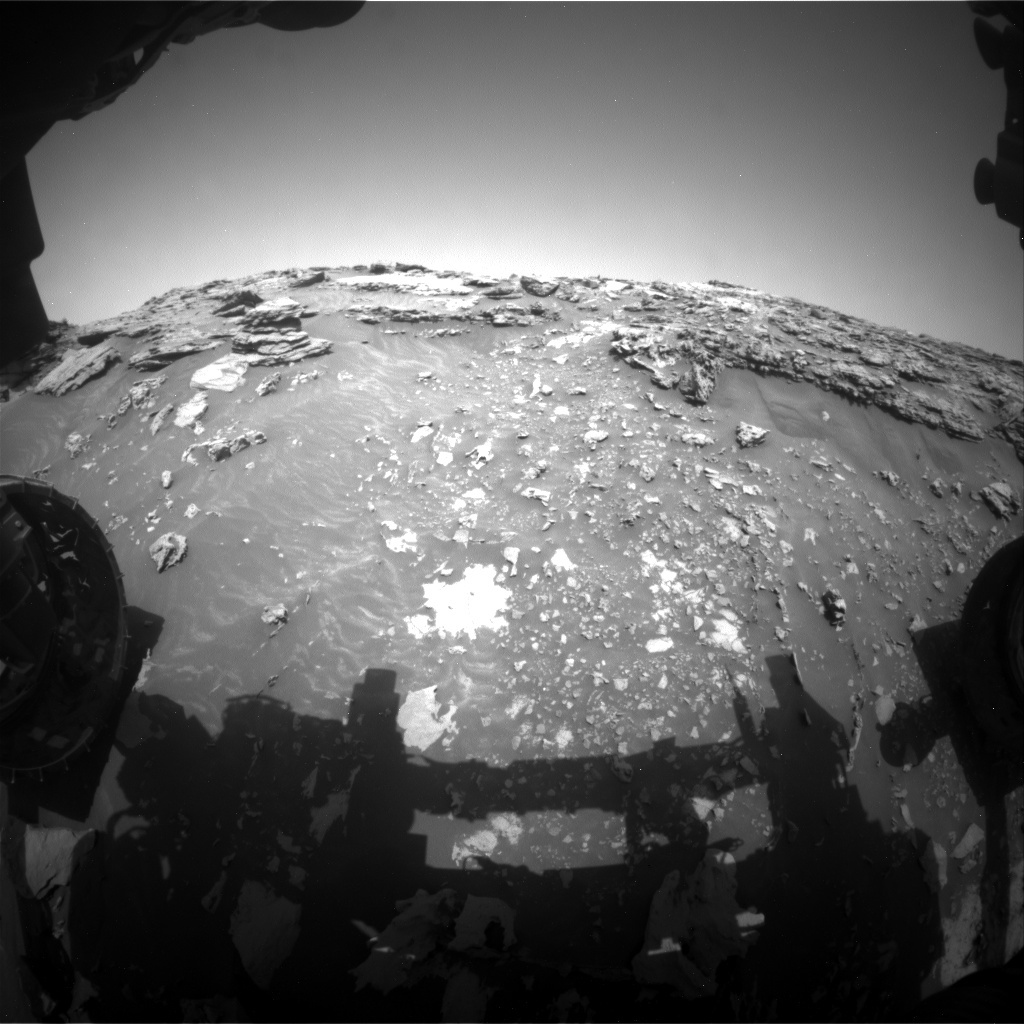 Comparing this image to the one in yesterday's blog shows the progress on Curiosity's impressive ascent.