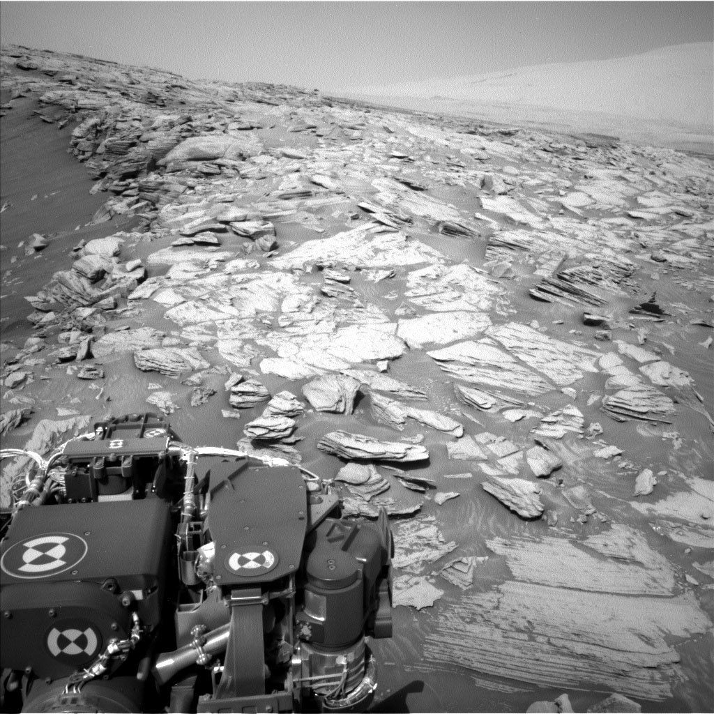 This image was taken by Left Navigation Camera onboard NASA's Mars rover Curiosity on Sol 2695.