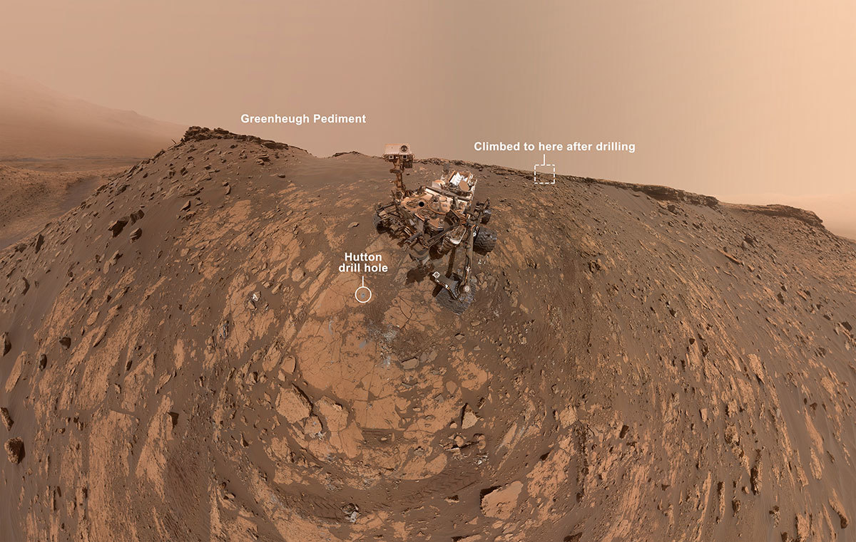 Read article: NASA's Curiosity Mars Rover Takes a New Selfie Before Record Climb