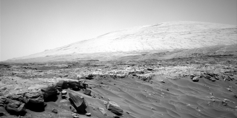 An image of Mount Sharp on Mars