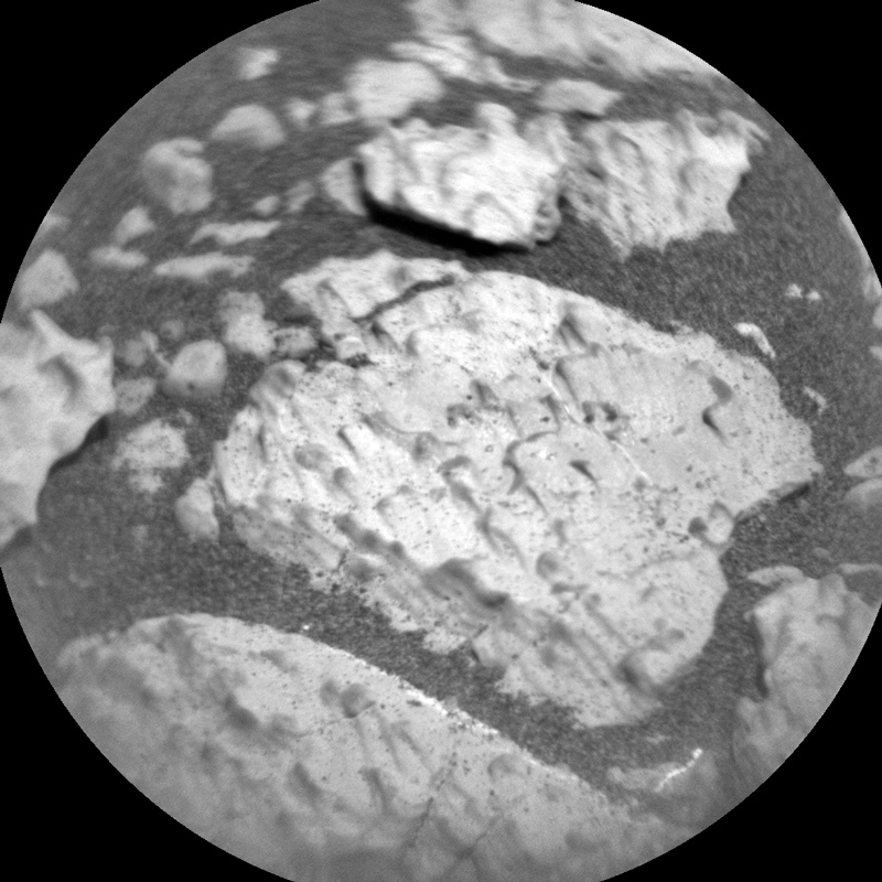 "Close-up of the drill site ""Glasgow"" on Mars"