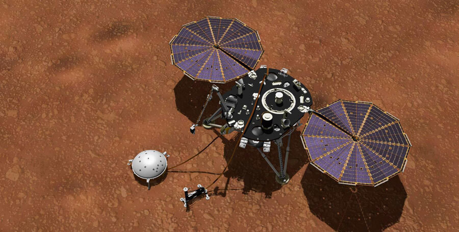 InSight Collecting Mars Weather Data