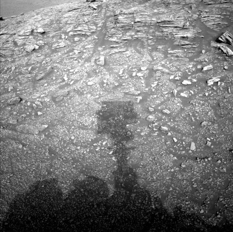 Curiosity's shadow on Mars