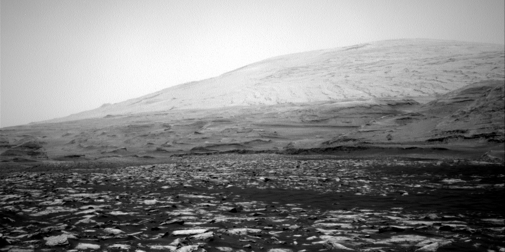 A view of Mt. Sharp on Mars