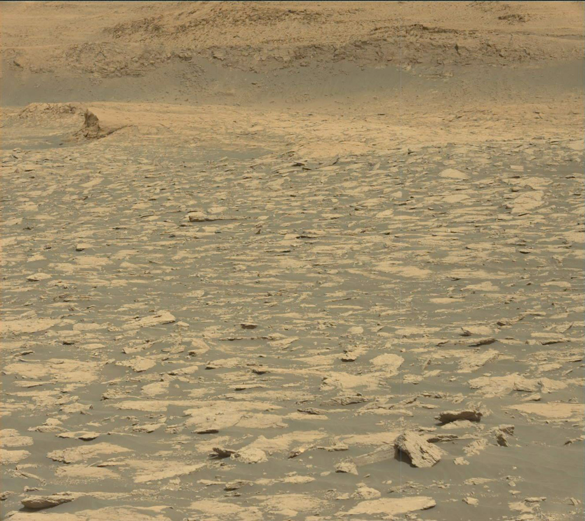 This image was taken by Mast Camera (Mastcam) onboard NASA's Mars rover Curiosity on Sol 3025. Credit: NASA/JPL-Caltech/MSSS. Download image ›