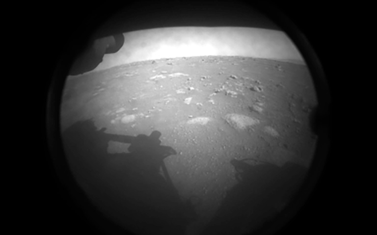 First image of Mars sent back by Perseverance rover