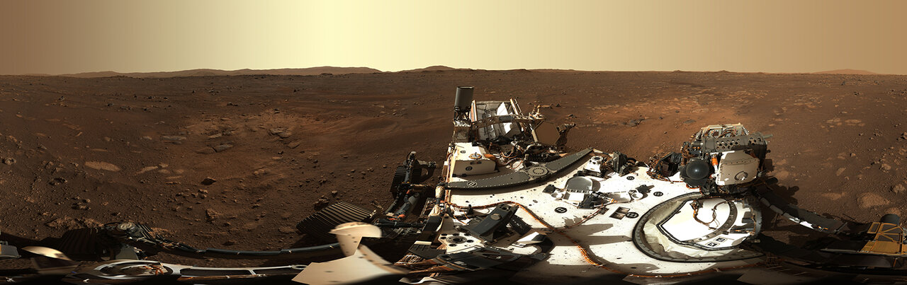 NASA's Perseverance Rover Gives High-Definition Panoramic View of Landing Site
