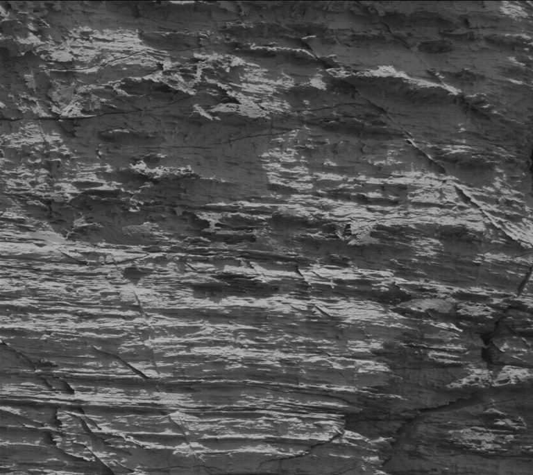 Rocky formation on Mars