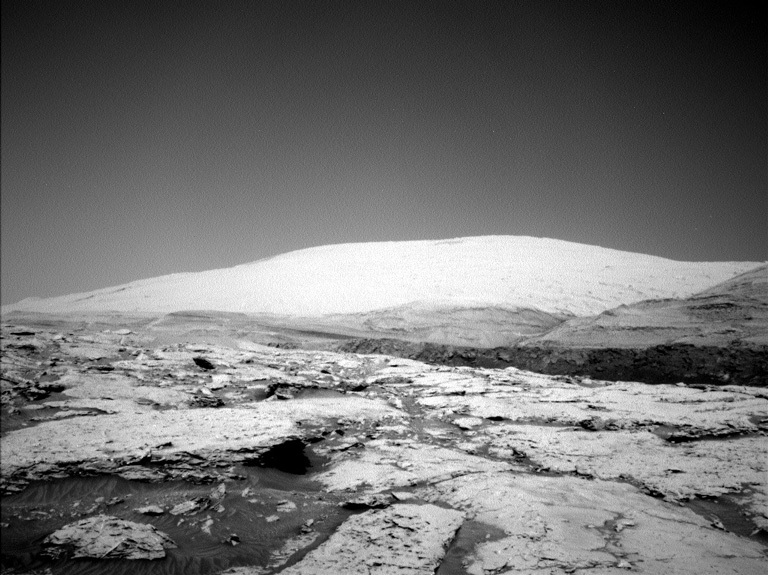 Mount Sharp as seen by the Curiosity