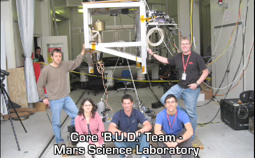 This image show the MSL BUD team