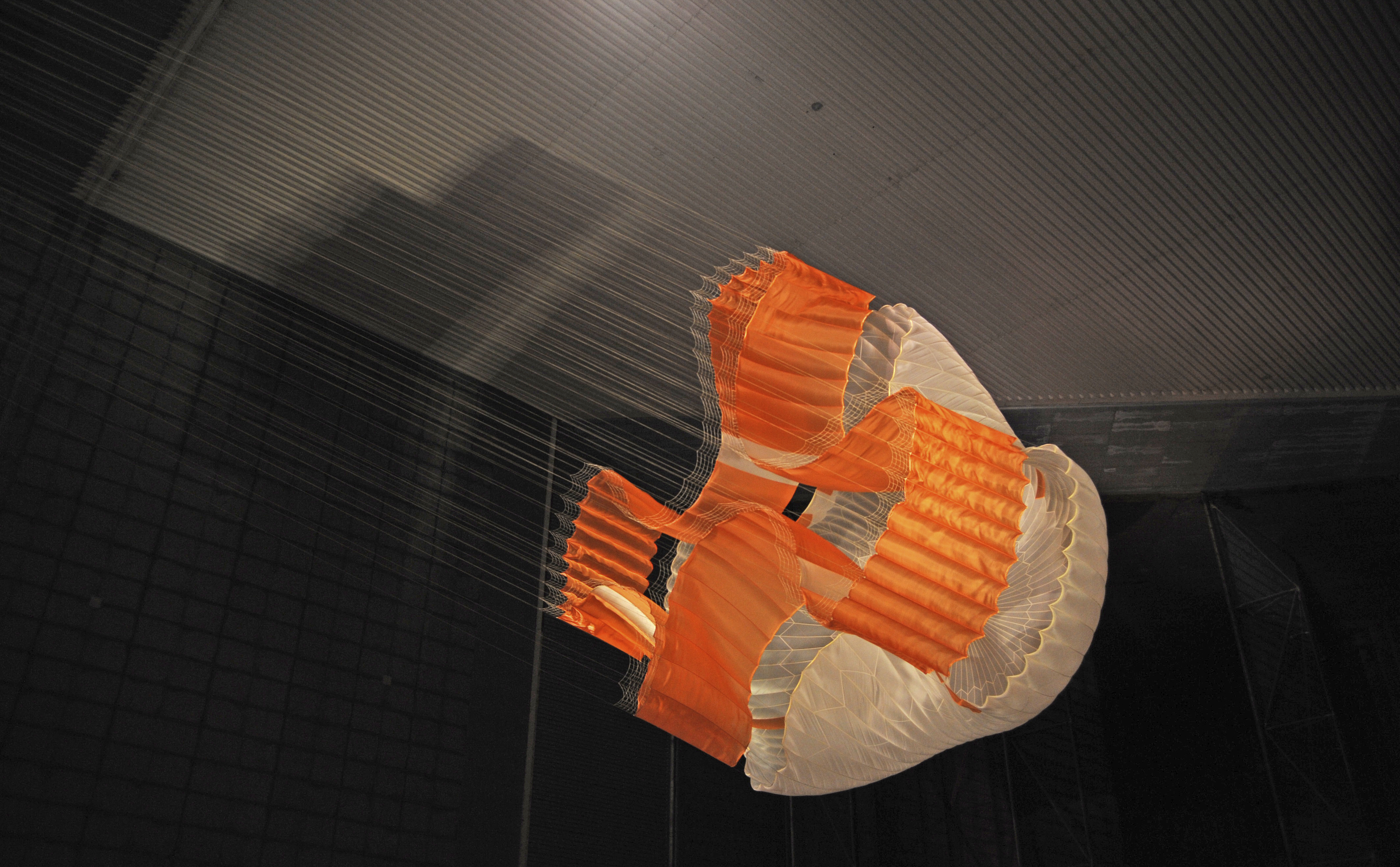 Parachute Opening During Tests for Mars Science Laboratory
