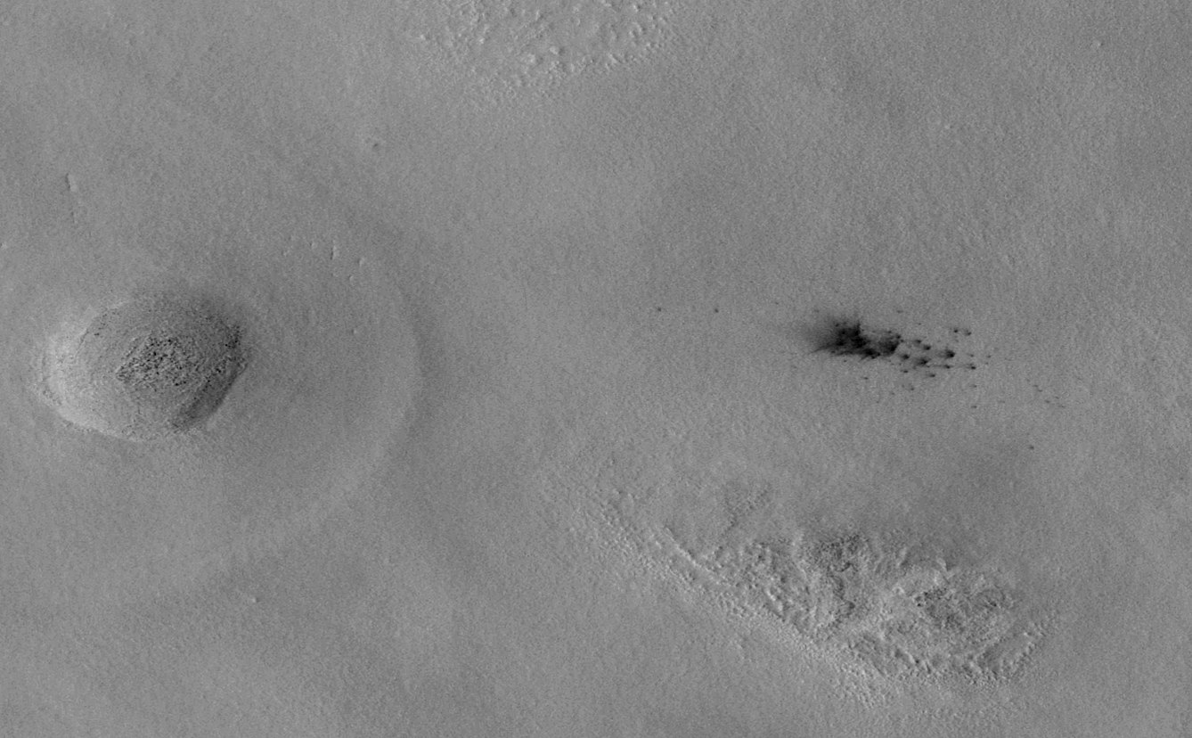 New Impact Craters on Mars (after)