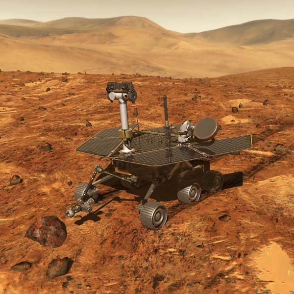NASA's twin robot geologists, the Mars Exploration Rovers, will launch toward Mars in 2003 in search of answers about the history of water on Mars.