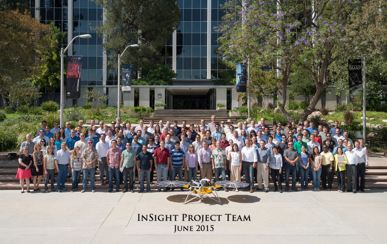 The InSight Team at NASA's Jet Propulsion Laboratory, JPL, in June 2015.