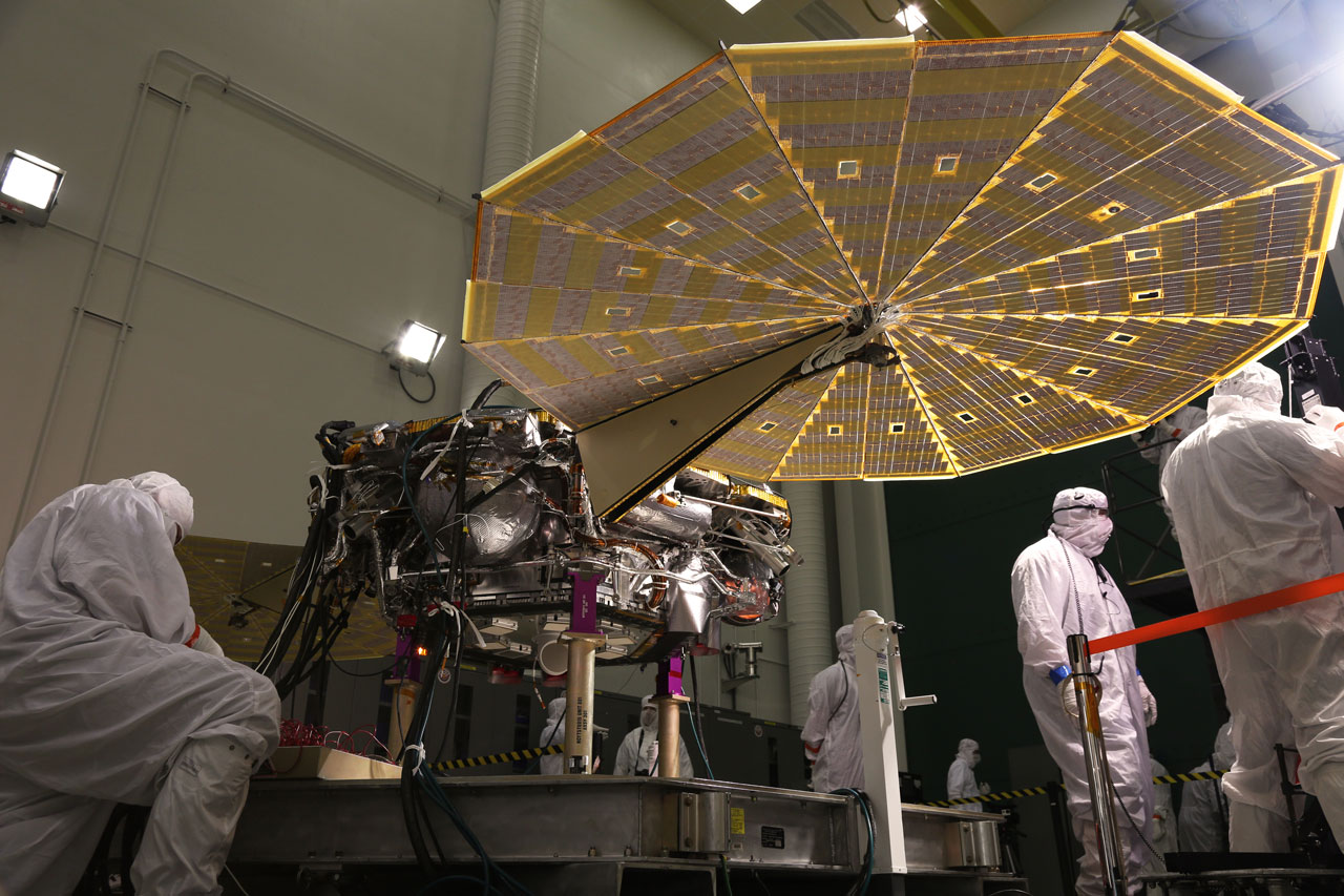 InSight Lander Solar Array Test