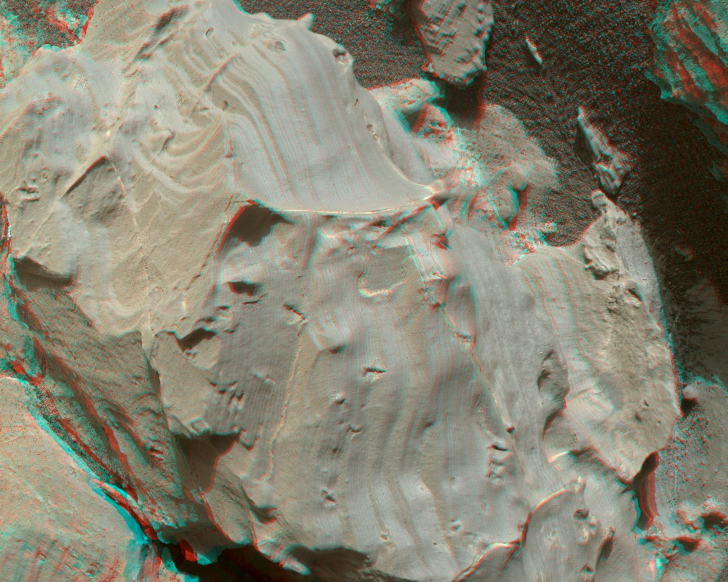 3d view of layered rock