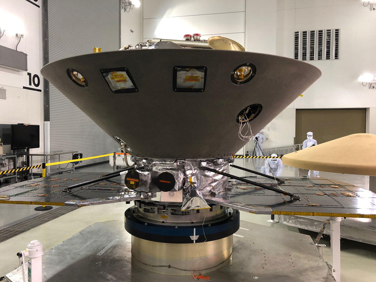 NASA's InSight to Mars undergoes final preparations at Vandenberg AFB, Calif., ahead of its May 5 launch date.