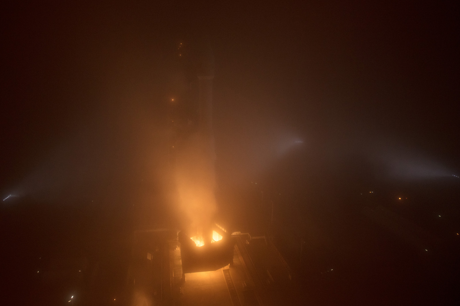 "The NASA InSight spacecraft launches onboard a United Launch Alliance Atlas-V rocket, Saturday, May 5, 2018, from Vandenberg Air Force Base in California. InSight, short for Interior Exploration using Seismic Investigations, Geodesy and Heat Transport, is a Mars lander designed to study the ""inner space"" of Mars: its crust, mantle, and core."