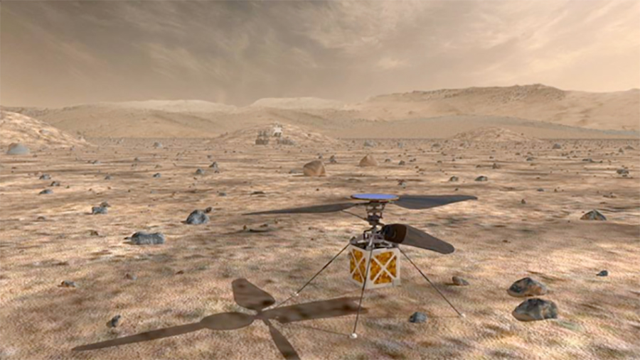 The Mars Helicopter, a small, autonomous rotorcraft, will travel with NASA's Mars 2020 rover, currently scheduled to launch in July 2020, to demonstrate the viability and potential of heavier-than-air vehicles on the Red Planet.