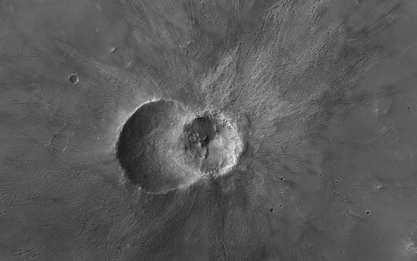 Twin Craters in Meridiani Planum