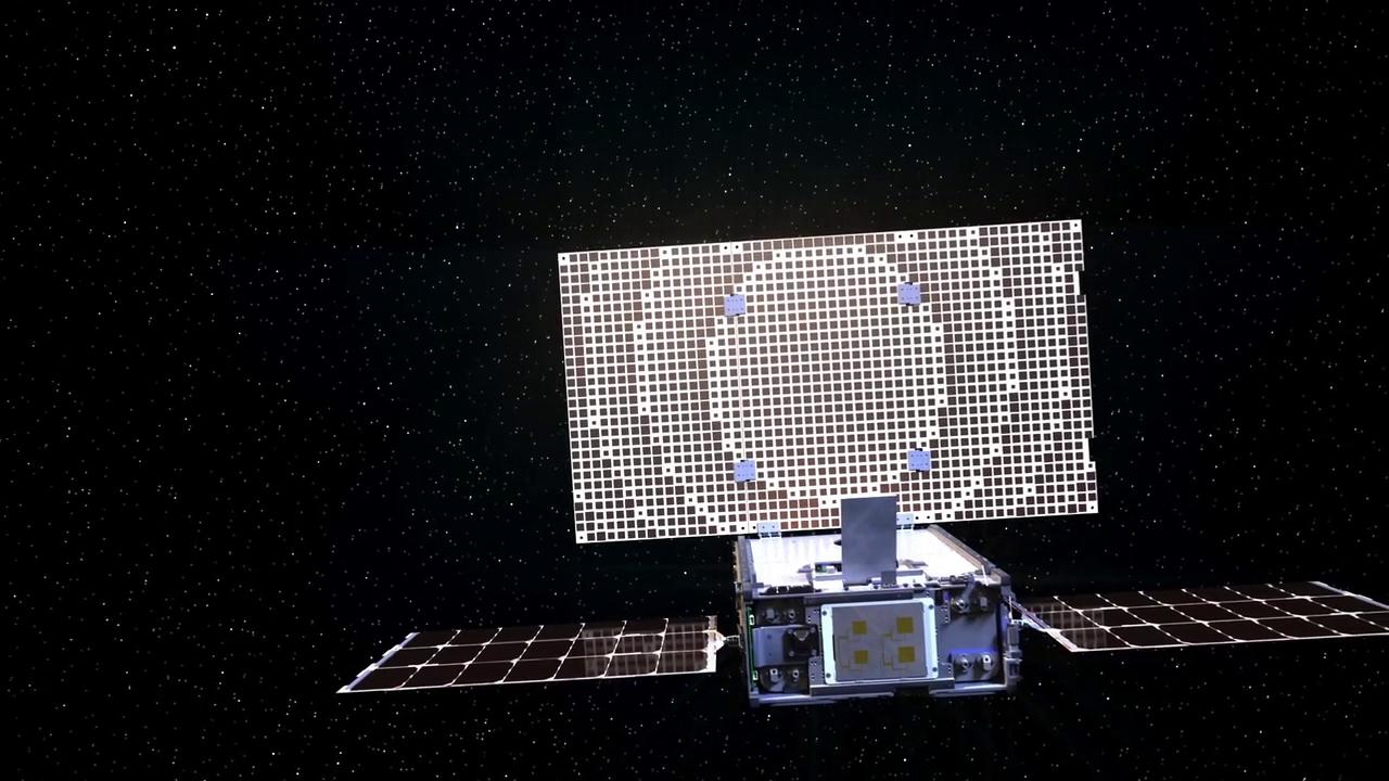 An artist's concept of one of NASA's MarCO CubeSats.