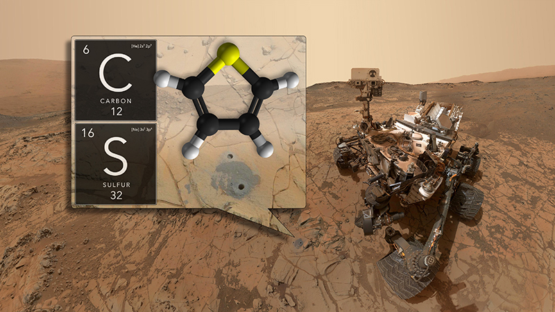 NASA's Curiosity rover has discovered ancient organic molecules on Mars, embedded within sedimentary rocks that are billions of years old.
