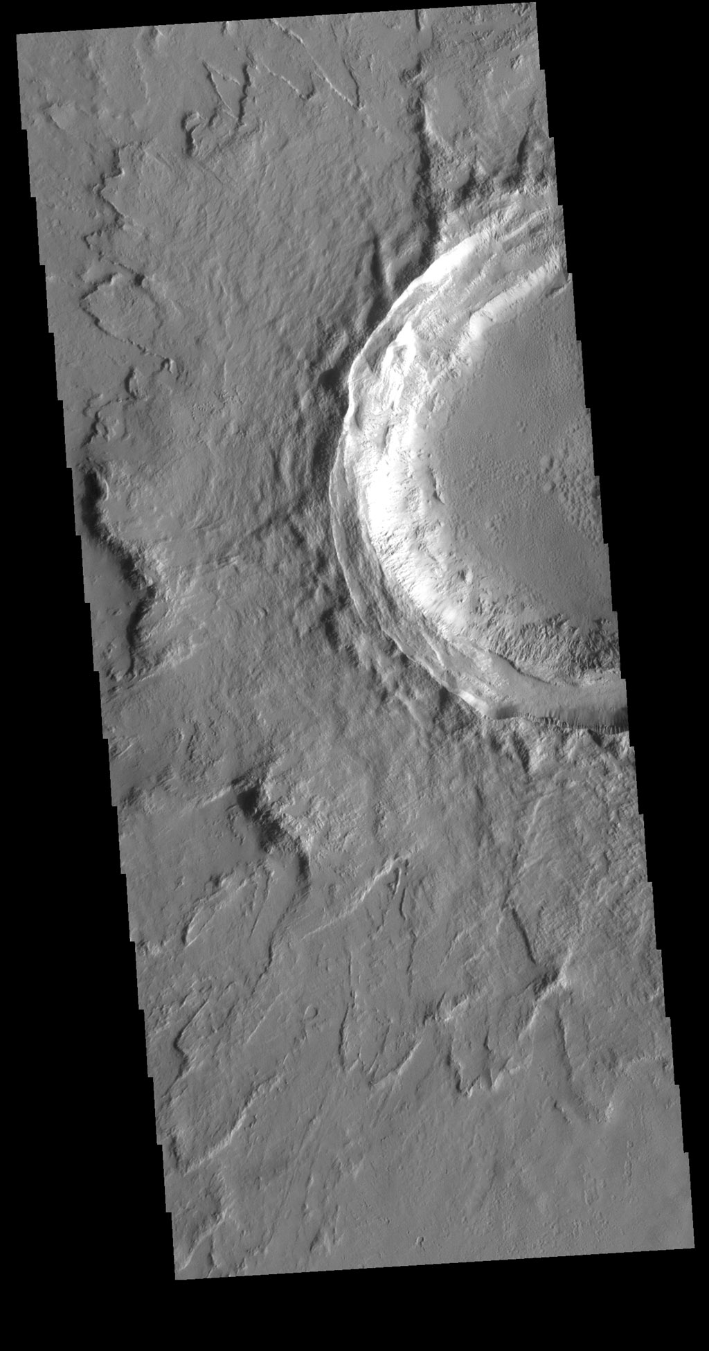 Crater in Tharsis