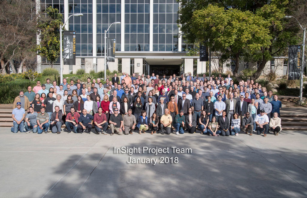 The InSight Team at NASA's Jet Propulsion Laboratory, JPL, in January 2018.