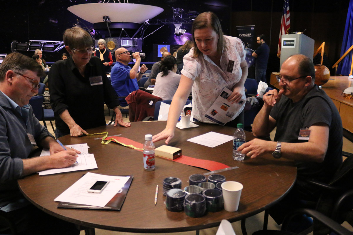 Educators participate in a teacher's workshop on March 10, 2018, at NASA's Jet Propulsion Laboratory in Pasadena, California.