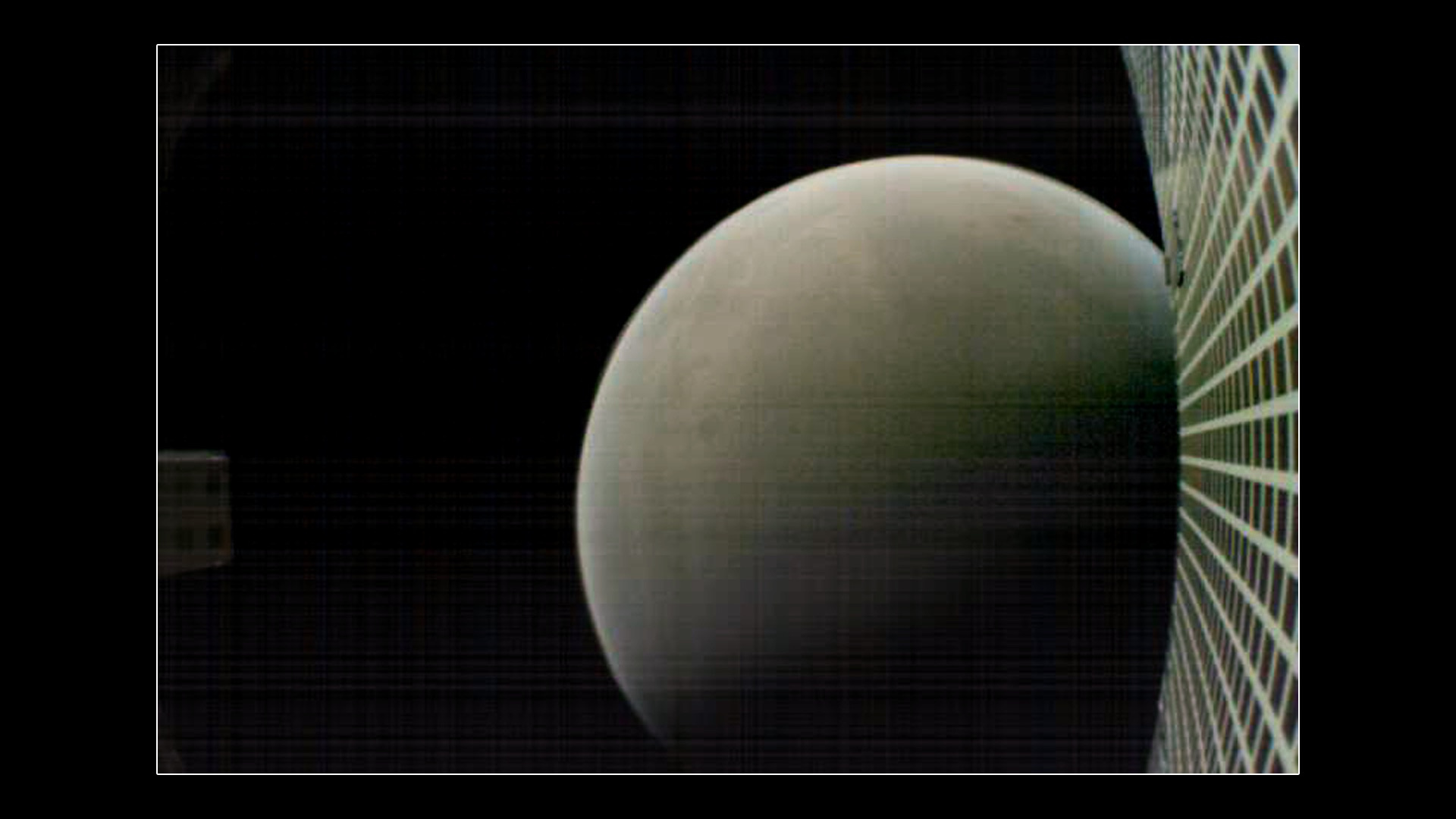 MarCO-B, one of the experimental Mars Cube One (MarCO) CubeSats, took this image of Mars from about 4,700 miles (7,600 kilometers) away during its flyby of the Red Planet on Nov. 26, 2018. MarCO-B was flying by Mars with its twin, MarCO-A, to attempt to serve as communications relays for NASA's InSight spacecraft as it landed on Mars.
