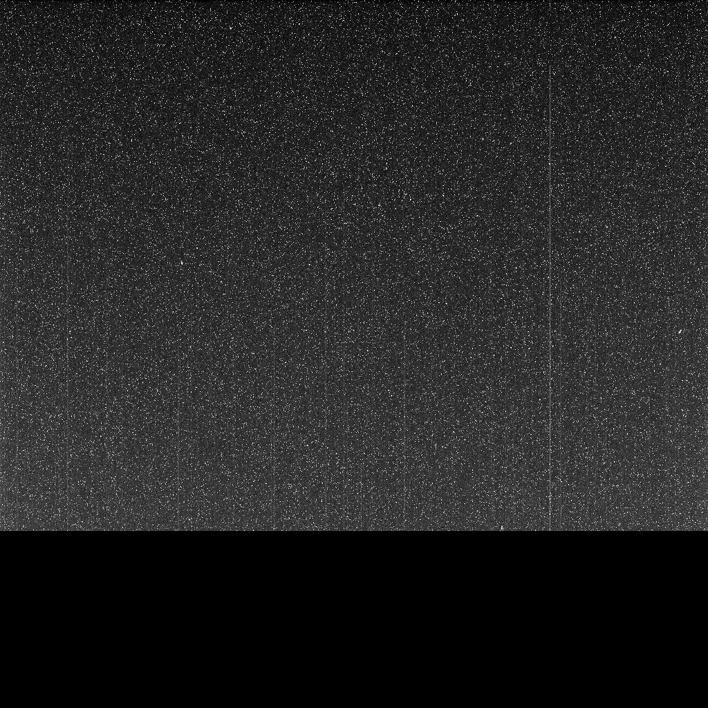 "Taken on June 10, 2018 (the 5,111th Martian day, or sol, of the mission) this ""noisy,"" incomplete image was the last data NASA's Opportunity rover sent back from Mars."