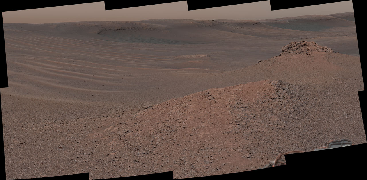 Curiosity Surveys the 'Clay-Bearing Unit'