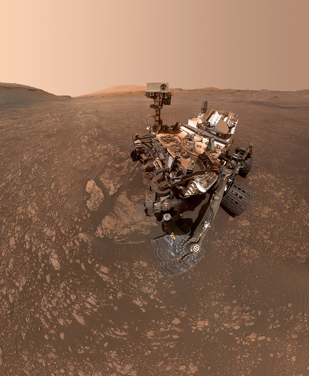 NASA's Curiosity Mars rover took this selfie on May 12, 2019