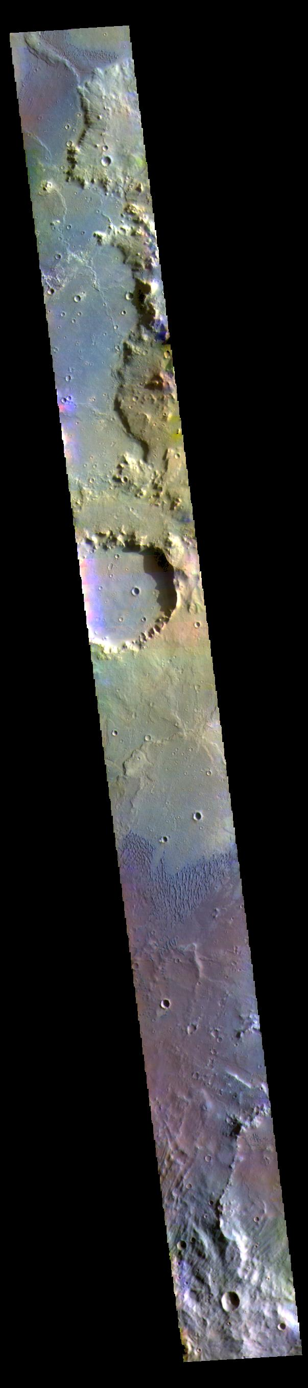 This image from NASAs Mars Odyssey shows part of the floor of Herschel Crater.