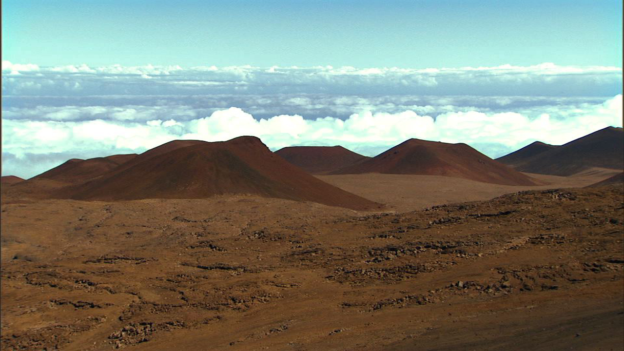 Through A Telescope Darkly Nasas Mars Exploration Program Cinder Cone Volcano Cones Shield Except For The Blue Sky Peak Of Mauna Kea Mountain That Is Sacred To Native Hawaiians With Its Rust Colored And Volcanic Rocks