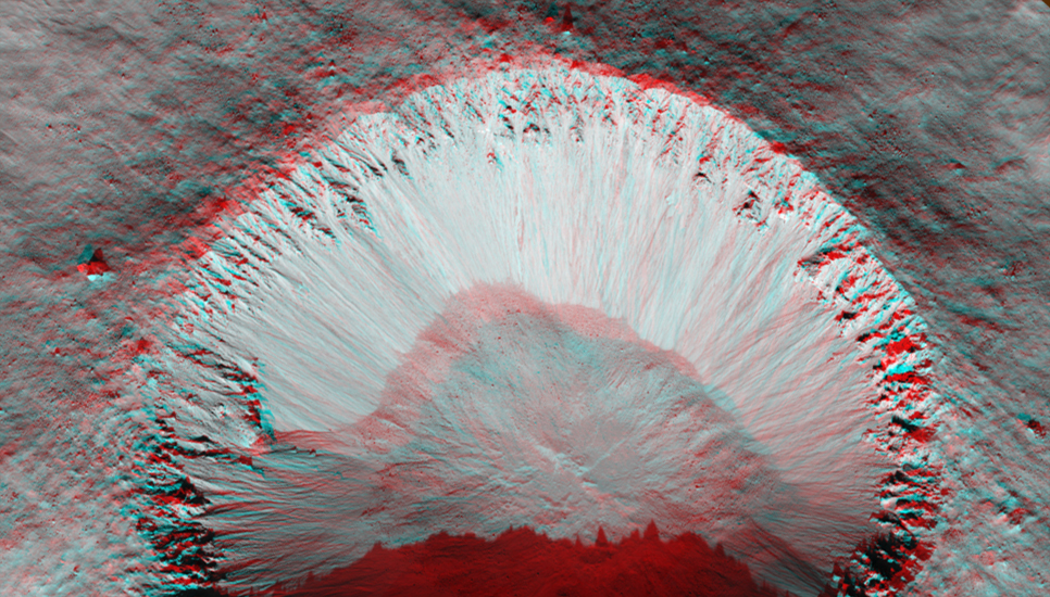 "This image covers a ""fresh-looking"" impact crater"