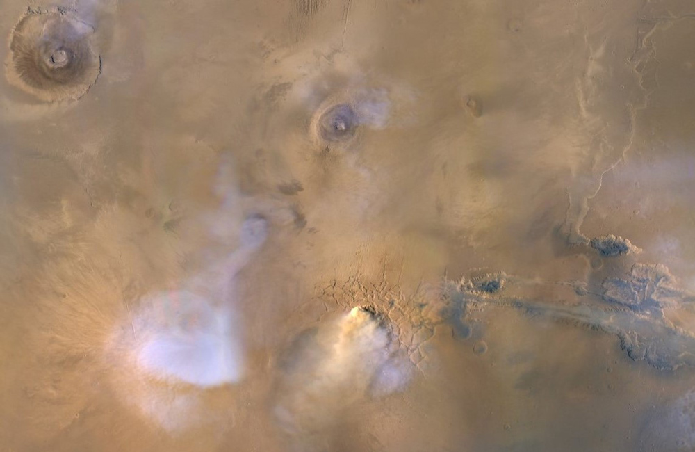 a concentrated cloud of dust on Mars