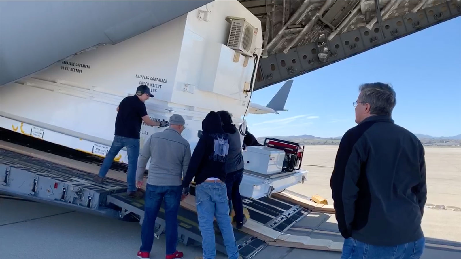 On Feb. 11, 2020, Mars 2020 Assembly, Test and Launch Operations Manager David Gruel watched as members of his team loaded NASA's next Mars rover onto an Air Force C-17 at March Air Reserve Base in Riverside, California.