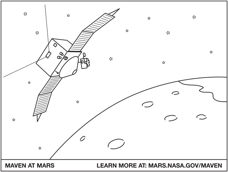 Download NASA's Mars Orbiter coloring sheet.